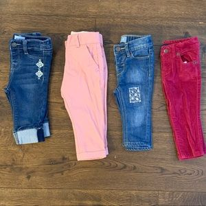 Other - 4 pairs infant pants Hudson / Tommy / Gap / Zara